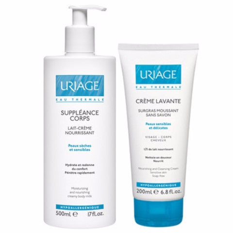 Uriage - Suppleance Corps 500Ml+Creme Lavante 200Ml