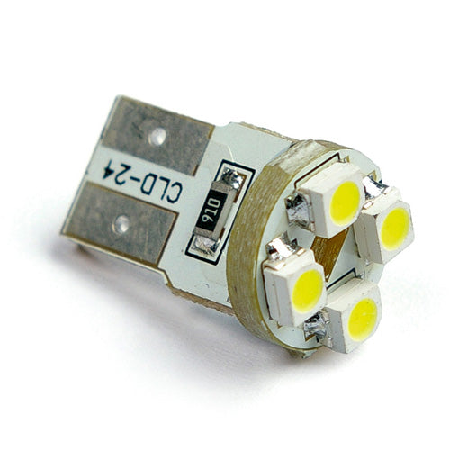 2PCS -LW1108 T10 W2.1x9.5D Wedge with 4LEDs 3528smd Interior bulb, stop light/license plate light/side turn signals bulbs 12V - lightingway