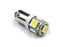2PCS -LW1114 T10 BA9S with 5-LEDs 5050 SMD Interior bulb, stop light/license plate light/side turn signals bulbs 12V - lightingway