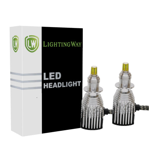 H3 LED Projector Headlight kit  with USA BridgeLux Chip - lightingway