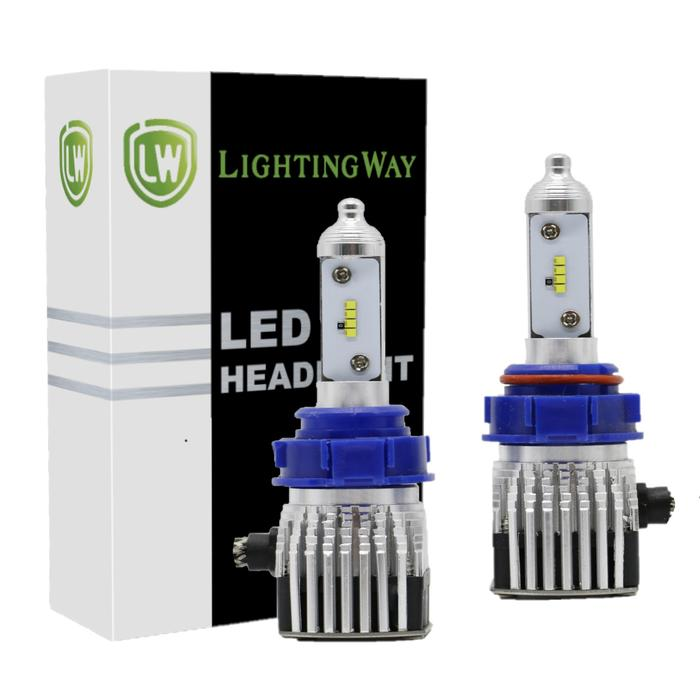LIFETIME WARRANTY - LED Headlight Conversion Kits 6000K 8000LM With Philips ZES Chips - LightingWay
