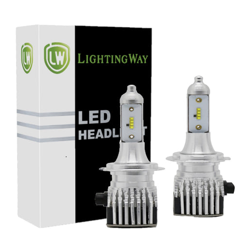 Low Beam - H7 LED Headlight Kit - 6000K 8000LM With Philips  ZES Chips - lightingway