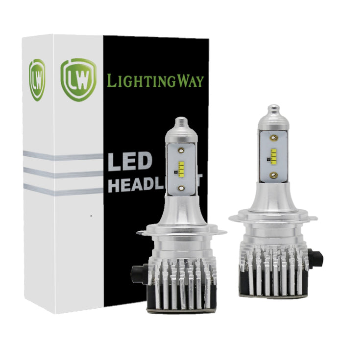 Low Beam - H7 LED Headlight Kit - 6000K 8000LM- Brightest - lightingway