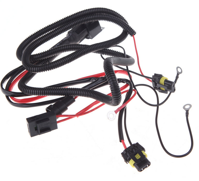 HID Xenon wire H4 H13, 9004/9007 Relay Harness wiring kit - LightingWay