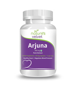 Natures Velvet Lifecare: Pure Extract Arjuna 500mg - 60 Capsules