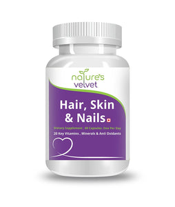Natures Velvet Lifecare: Hair, Skin and Nails, 60 Capsules -Pack of 1