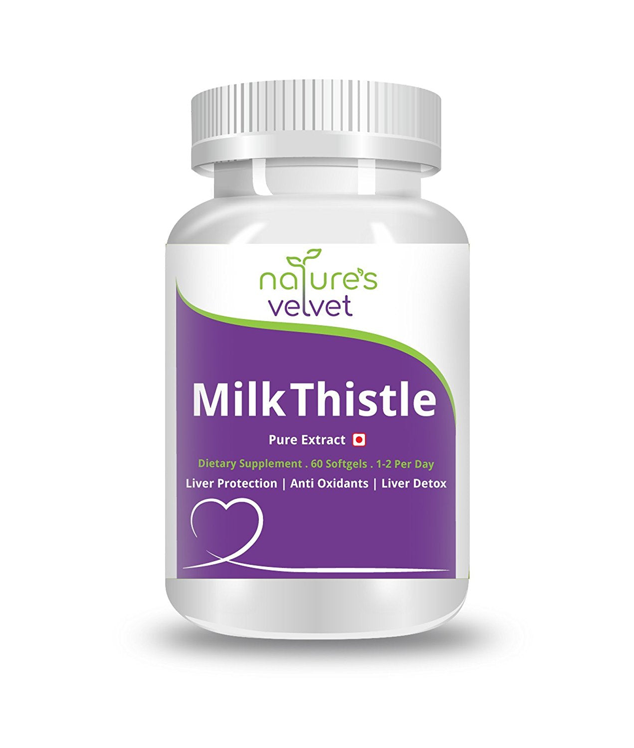Natures Velvet Lifecare: Milk Thistle Pure Extract, 60 Softgels