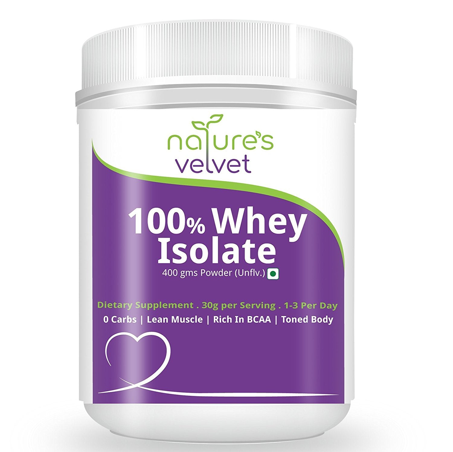 Natures Velvet Lifecare: Whey Protein Isolate (NVISO), Manufactured in USA, 400gms