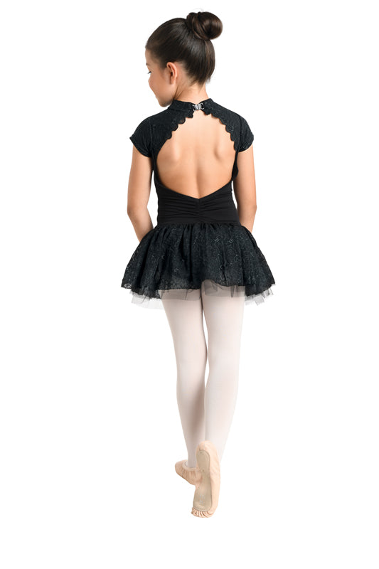 Cap Sleeve Skirted Leotard
