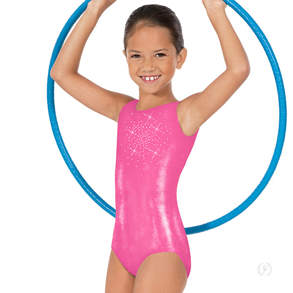 313c17efde32 Girls Rhinestone Starburst Gym Leotard