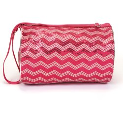 Chevron Sequin Duffle
