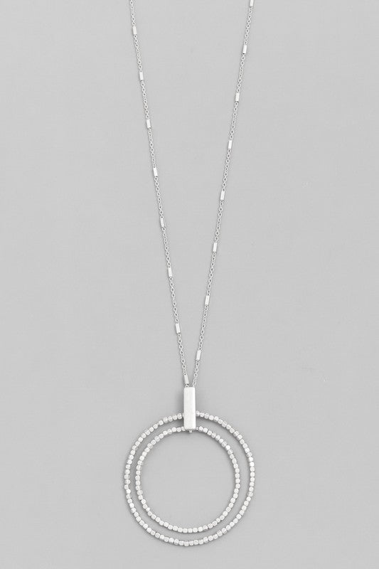 Circle Hoop Pendant Necklace