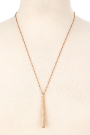 Long Teardrop Pendant Necklace