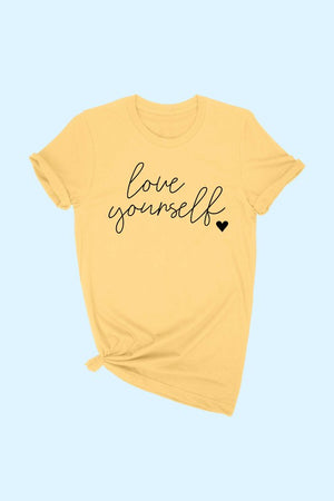 "Yellow ""Love Yourself"" Graphic T-Shirt"