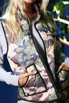 CAMOUFLAGE PADDED VEST WITH FRONT ZIPPER - ALL SALES FINAL