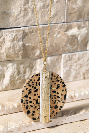 Animal Cork Necklace Set