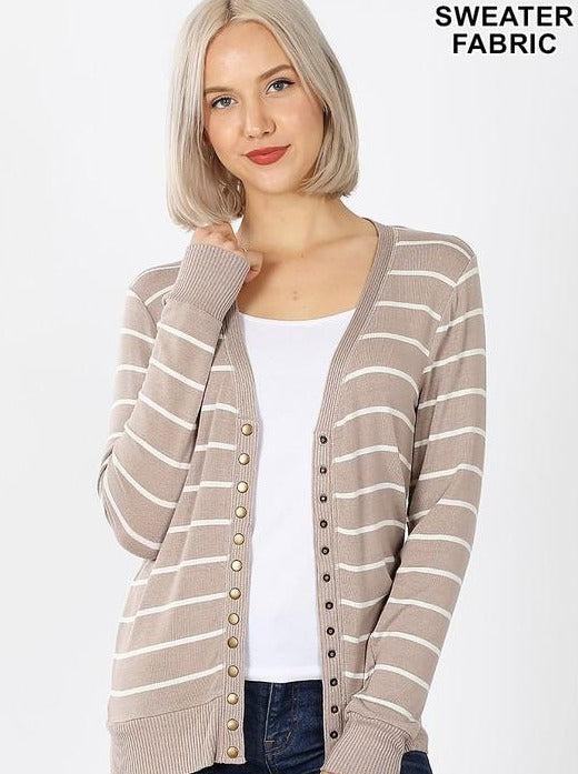 Printed Snap Button Cardigans - Various Styles
