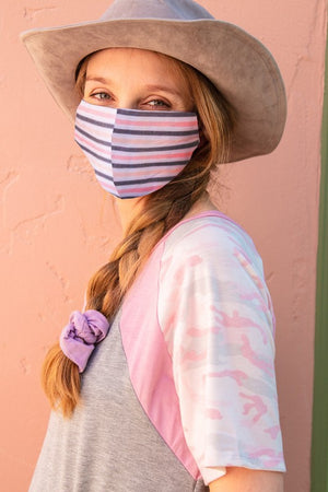REUSABLE COTTON FACE MASK WITH FILTER SLOT REPLACEABLE FILTERS SOLD SEPARATELY -ALL SALES FINAL