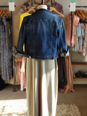 Kancan Cropped Jean Jacket - ALL SALES FINAL