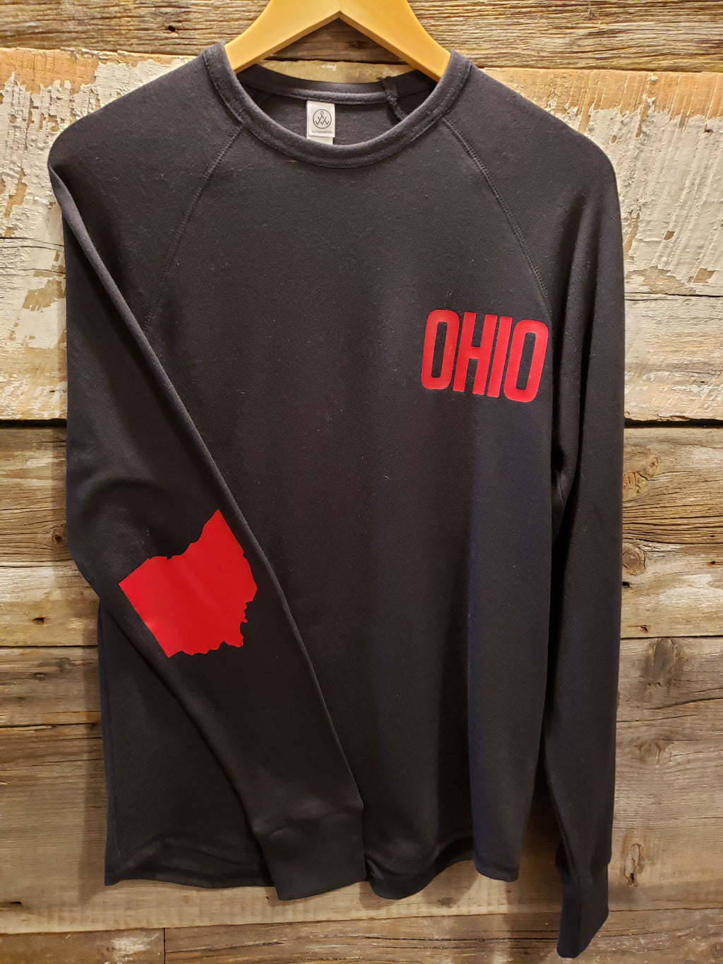 Black with Red OHIO Kickback Vintage Knit Pullover
