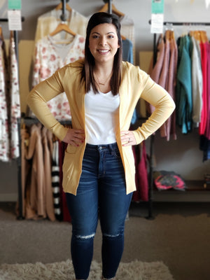Buttercup Open Cardigan with Pockets