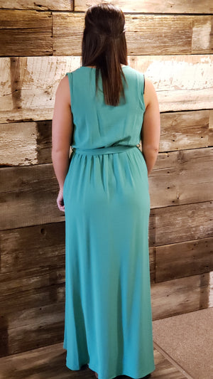 Jade Maxi Dress with Surplice Neckline ALL SALES FINAL