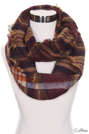 Coffee Checker Infinity Scarf