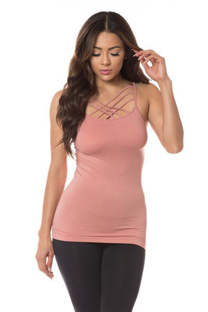 Seamless Triple Criss-Cross Front Cami (One Size)
