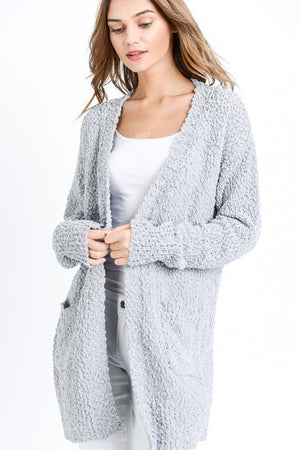 Popcorn Cardigan with Pockets