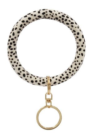 Animal Skin Circle Bracelet Bangle Keychain