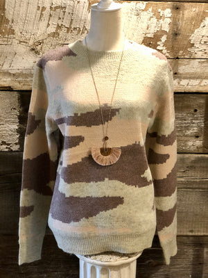 CAMOUFLAGE KNITTED SWEATER