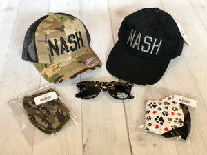 Black/Charcoal NASH Ball Cap