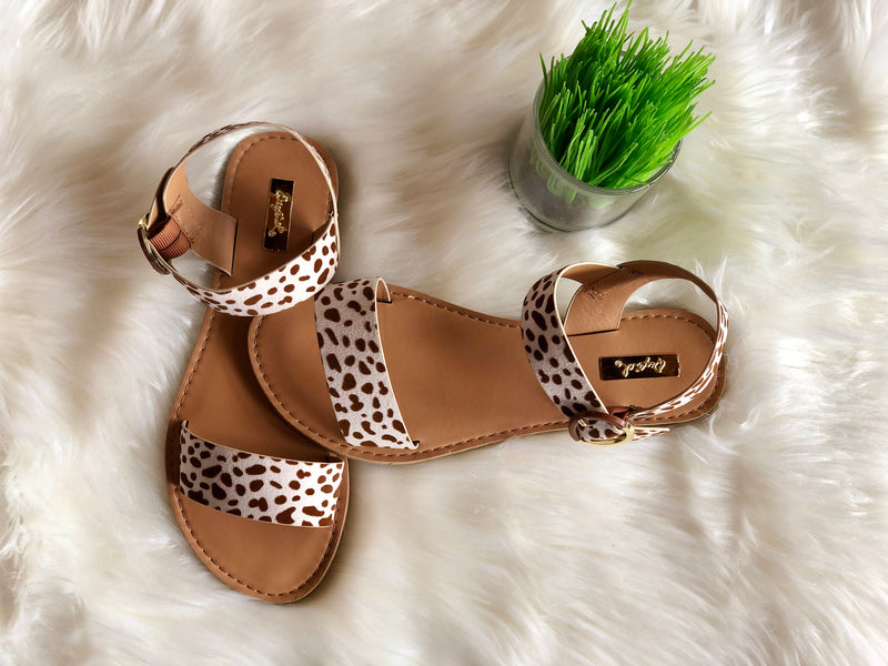 Leopard Print Sandal with Buckle