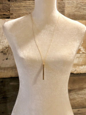 Metallic Bar Pendant Necklace