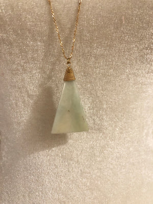 Triangle Stone Pendant Necklace - 2 Colors