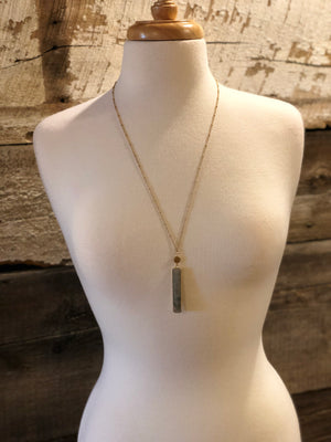 Stone Bar Pendant Necklace