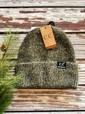 C.C Ribbed Wool Blend Beanie - Various Colors