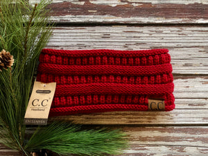 C.C Solid Ribbed Headwrap - Various Colors