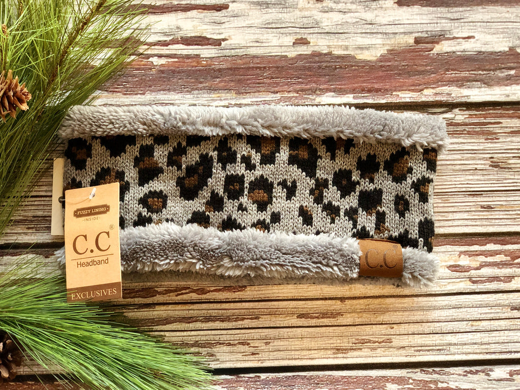 C.C Leopard Pattern Headwrap with Lining