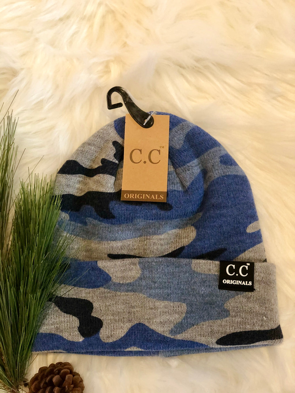 C.C. Knitted Camouflage Skully Hat Beanie