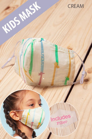 KIDS COTTON FACE MASK ADJUSTABLE BREATHABLE FILTER- Various Designs