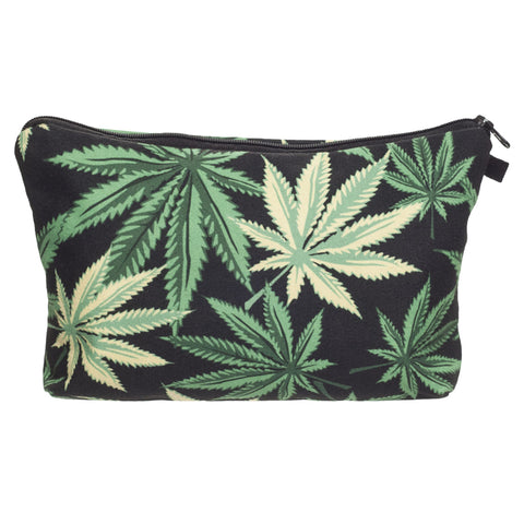 3D Printing Black Weed Cosmetic Bag - The Urban Fest eStore
