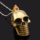 Vintage Biker's Skull Pendant Necklace - The Urban Fest eStore