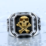 Pirate Part Plated Skull Ring - The Urban Fest eStore