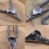 Awe Raven Skull Pendant Necklace - The Urban Fest eStore