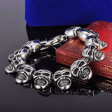 Gothic Stainless Steel Skull Bracelet - The Urban Fest eStore