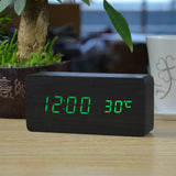 LED Wooden Digital Alarm Clocks with Thermometer - The Urban Fest eStore