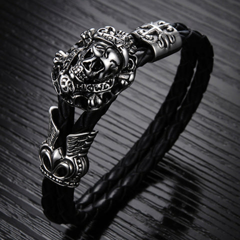 Vintage Stainless Steel Skull Bracelets - The Urban Fest eStore