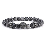 Premium Natural Stone Skull Light Bracelet - The Urban Fest eStore