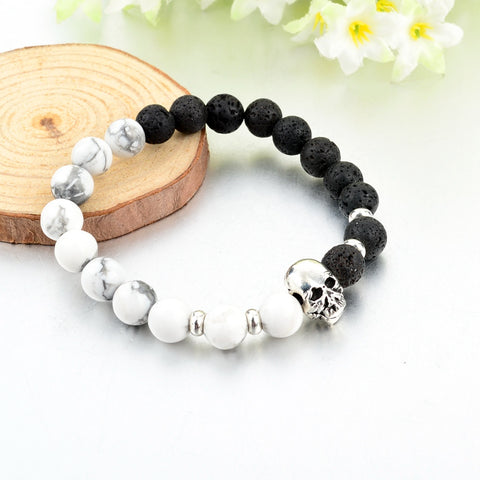 Natural Stone Skull/Buddha Bracelets - The Urban Fest eStore